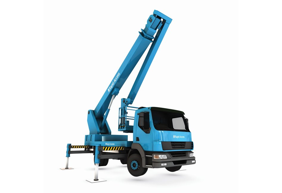 Truck Mount Special Crane Manlift Machine Image